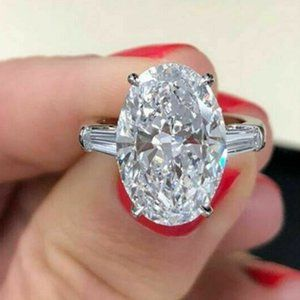 3 CT Oval White Moissanite Ring / Made to Order